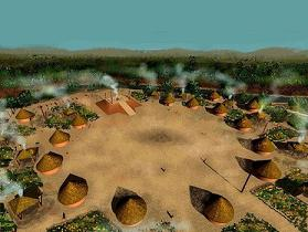 Creek Indians lived in Celtic forts and round houses